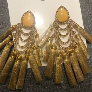 Jewelry - Mustard Tassle earrings